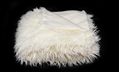 Cuvertură pat matrimonial Ecri alpaca 220/240 , blana sintetica foto