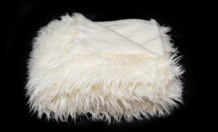 Cuvertură pat matrimonial Ecri alpaca 220/240 , blana sintetica