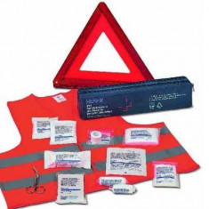Kit siguranta auto Holthaus Medical (vesta, triunghi, trusa prim ajutor)