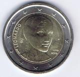 ITALIA moneda 2 euro comemorativa 2019 - Leonardo da Vinci , UNC, Europa, Cupru-Nichel