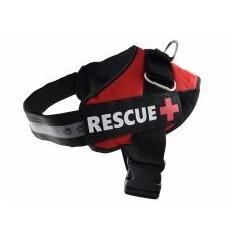 Ham pentru câini Rescue XXL 80 - 110 cm, roșu