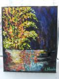 Lacul 1-pictura ulei pe panza