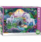 Cumpara ieftin Puzzle Eurographics - Unicorn Fairy Land, 500 piese XXL