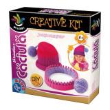 Cumpara ieftin Creative Kit Sa Tricotam Caciula 64882, D-Toys