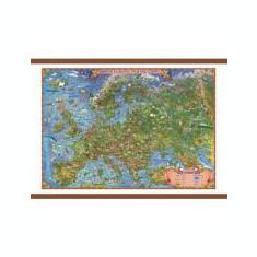 Europa harta pentru copii, cu sipci, 700x500mm (GHECP70)