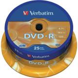 "DVD-R VERBATIM 4.7GB 120min viteza 16x 25 buc Single Layer spindle ""Matt Silver"" ""43522"""