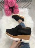 Adidasi dama negri cu platforma marime   38,  40+CADOU