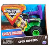 Masinuta Monster Jam, Scara 1:43, Grave Digger Spin Rippers
