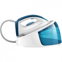 Statie de calcat Philips FastCare Compact GC6709/20, 2400 W, talpa ceramica, 110 g/min, alb/albastru