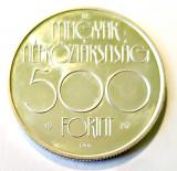 UNGARIA 500 FORINTI FORINT 1987 OLIMPIADA SEOUL LUPTE LIBERE ARGINT AUNC
