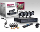 Sistem supraveghere CCTV - kit DVR 4 camere exterior/interior,internet
