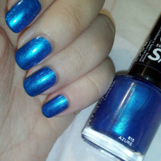 Lac de unghii, Rimmel London, 60 Seconds Super Shine, 815 Azure, 8 ml