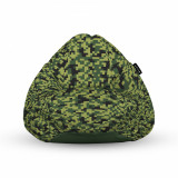 Cumpara ieftin Fotoliu Units Puf (Bean Bag) tip para, impermeabil, cu maner, 80 x 90 x 68 cm, Minecraft