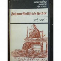 SCRISORI - JOHANN GOTTFRIED GERDER