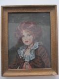 Tablou goblen , Fetita , 22 x 29 cm