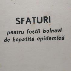 Sfaturi pentru fostii bolnavi de hepatita epidemica