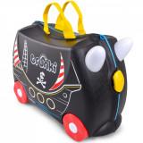 Valiza pentru copii Ride-On Pedro Piratul Trunki, Negru, 46 cm