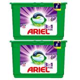 2 x Ariel 3in1 Capsule, Detergent rufe cu Lavanda 405g, 2 x 15 capsule/cutie