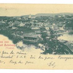 4555 - OCNA-SIBIULUI, Litho, Romania - old postcard - used - 1898, Circulata, Printata