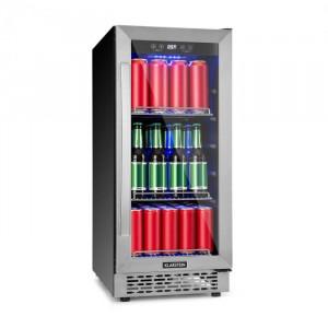 Klarstein Beerlager 88, frigider pentru răcoritoare, 88 l, 33 sticle, clasa energetică A, oțel inoxidabil, negru