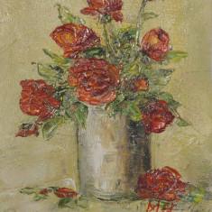 Pictură `Trandafiri roşii`