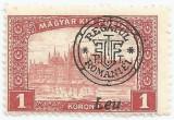 Romania, Emisiunile Oradea, LP 20d/1919, Parlamentul, supr. depl., eroare, MH