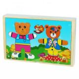 Puzzle lemn cu ursuleti
