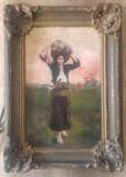 Portret de tarancuta la munca campului// ulei pe panza, prima jum. a sec. XX