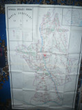 Harta mare a Judetului OLT 1986 ,dim.=154x101cm RSR Inst.Geodezie si Organi