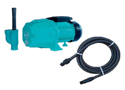 Kit pentru irigat, pompa autoamorsanta Omnigena DP355 750W cu ejector + furtun aspirare 7m foto