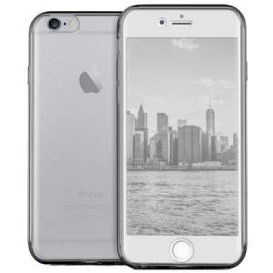 Husa Full TPU 360° (fata + spate) pentru iPhone 6 / 6S, Gri transparent