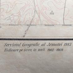 HARTA militara  TURNU MAGURELE SI NICOPOL , 1913