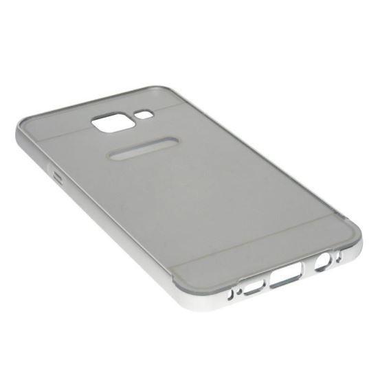 Husa Bumper Aluminiu APC GSM Capac Spate Argintiu Pentru Samsung Galaxy A5 A510 2016