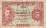 1941 (1945), 5 cents (P-7a) - Malaya!