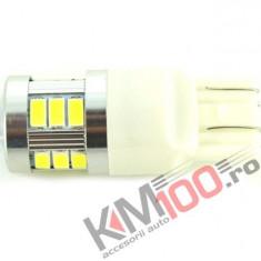 Bec LED cu 2 Faze T20, 18 SMD, Canbus, 9V - 30V, nonpolar