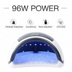 Lampa unghii 96w SUN H3 plus premium UV-LED, timer, senzor, display -39 LED-uri