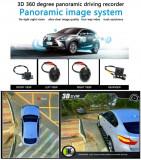 Cumpara ieftin Sistem parcare 360 grade 3D cu 4 camere wide angle bird eye PREMIUM