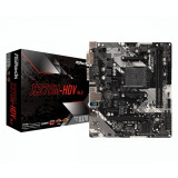 Placa de baza Asrock X370M-HDV R4.0 Socket AM4 DDR4 1xM.2 4xSATA DVI-D HDMI mATX MB