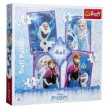 Puzzle 4 in 1 Soda Fun, Disney Frozen Anna, Elsa si Olaf
