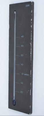 Termometru vechi cu reclama IBM - anii '80 foto