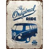 Placa metalica - Volkswagen Bulli The Original Ride - 30x40 cm