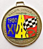 MEDALIE RALIUL DUNARII 1980 DACIA DEVA HUNEDOARA LOCUL 2 AUTOMOBIL AUTOTURISM