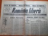 Ziarul romania libera 19 septembrie 1990 - presa in pericol !