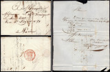 France 1823 Postal History Rare Stampless Cover + Content Rouen to Paris DB.090