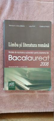 LIMBA SI LITERATURA ROMANA BACALAUREAT COLUMBAN RADU POP EDITURA  ART foto