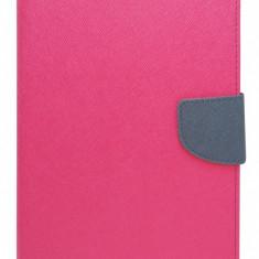 Husa tip carte Mercury Goospery Fancy Diary roz + bleumarin pentru Samsung Galaxy Tab 3 8.0 (SM-T310, SM-T311, SM-T315)
