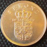 Moneda 1 COROANA - DANEMARCA, anul 1972 *cod 838 B, Europa