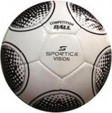 Minge de fotbal Sportica VISION (Alb cu Negru)