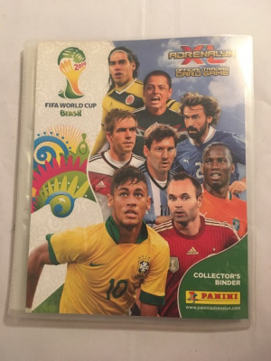 Album Panini FIFA World Cup Brasil Adrenalyn XL Collector's Binder 250+ cart. foto