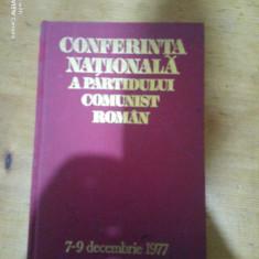 Conferinta nationala a Partidului Comunist Roman 7-9 Decembrie 1977